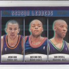 Jason Kidd Nick Van Exel Sam Cassell League Leaders Assists 2000-01 Topps #151
