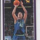 Dirk Nowitzki Basketball Card 2000-01 Topps #16 Mavericks