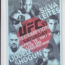 Anderson Silva Thals Leites Fight Poster Trading Card 2011 UFC Moment of Truth
