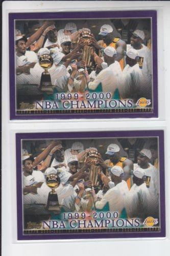 Lakers Championship 1999-2000 Basketball Card Lot (2) 2000-01 Topps #155