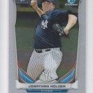 Jonathan Holder 1st Chrome Card 2014 Bowman Draft #CDP88 Yankees QTY