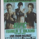 Rich Franklin Yushin Okami Fight Poster Trading Card 2010 UFC Moment of Truth