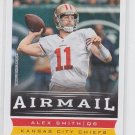 Alex Smith AirMail Football Trading Card 2013 Score #236 Chiefs