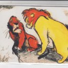 Confrontation on Pride Rock Thermographic 1994 Skybox Lion King 2 #T2 *ED