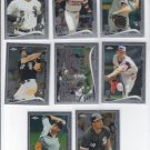 Chicago White Sox Team Set of 8 Cards 2014 Topps Chrome With RC Jose Abreu