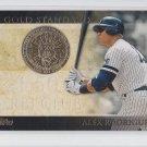 Alex Rodriguez Gold Standard Insert 2012 Topps #GS44 Yankees