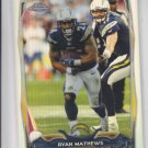 Ryan Mathews Refractors Parallel 2014 Topps Chrome #43 Chargers