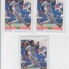 Jim Edmonds RC Baseball Trading Card Lot of (3) 1992 Clasisc/Best #343 Angels