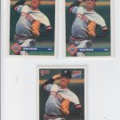 Greg Gohr RC Rated Rookie Lot of (3) 1993 Donruss Series 2 #605 Tigers