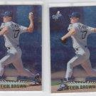Brett Boone Baseball Trading Card Lot of (2) 1999 Topps Stadium Club #314 Braves