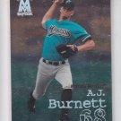 A.J. Burnett RC Baseball Trading Card 1999 Skybox Molten Metal #114 Marlins