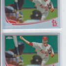 Lance Lynn Refractors Parallel Lot of (2) 2013 Topps Chrome #7 Cardinals