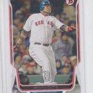 David Ortiz Baseball Trading Card  2014 Bowman #208 Red Sox