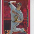 Chris Tillman Red Hot Foil Parallel 2014 #141 Orioles