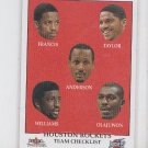 Olajuwon/Williams/Anderson/Taylor/Francis CL  2000-01 Fleer Tradtiion #274 *BOB