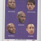 Polynice/Stockton/Malone/Russell/Starks Jazz CL 2000-01 Fleer Tradtiion 277 *BOB