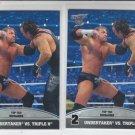 Undertaker & Triple H Silver Lot of 2 Top 10 Rivalries 2013 Topps Best of WWE #2