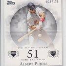 Albert Pujols 51 RBI Base Parallel 2006 Topps Moments & Milestones #2 039/150