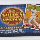 Albert Pujols Golden Giveaway Expired Code Card 2012 Topps #GGC-11 Angels
