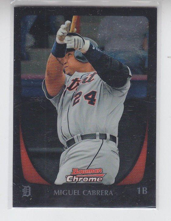 Miguel Cabrera Baseball Trading Card 2011 Bowman Chrome #36 Tigers