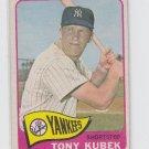 Tony Kubek Vintage Baseball Card 1965 Topps #65 Yankees VG Slight Creases *ED