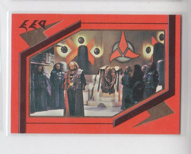 Klingon Great Hall Embossed 1995 Skybox Next Generation #S25  *ED