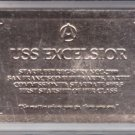U.S.S. Excelsior NCC-2000 Gold Registry Plaque Skybox Star Trek 30 Years #R5