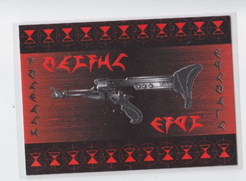 Klingon Disruptor Rifle Embossed Chase 1995 Skybox The Next Generation #S14  *ED