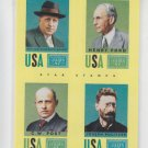 Henry Ford William Hearst CW Post Joseph Pulitzer Star Stamps 2014 Golden Age 10