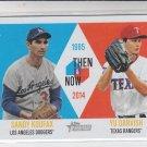 Yu Darvish & Sandy Koufax Then Now 2014 Topps Heritage #TAN-KD Rangers