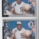Frank Thomas Baseball Card Lot (2) 1998 UD Collector's Choice 60 White Sox HOF