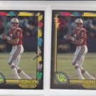 Hugh Miller Football Trading RC Card Lot (2) 1991 Wild Card #121 Patriots *BOB