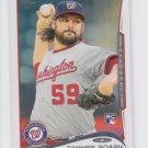 Tanner Roark Baseball Trading Card 2014 Topps Series 2 RC #602 Nationals