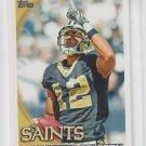 Marques Colston Football Trading Card 2010 Topps #6 Saints