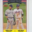 Derek Jeter & Jose Reyes Baseball Card 2006 Topps Updates #UH326 Yankees
