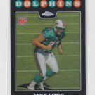 Jake Long Rookie Card Refractors 2008 Topps Chrome #TC222 Dolphins Rams