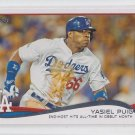 Yasiel Puig Baseball Trading Card 2014 Topps Series 2 CL #552 Dodgers
