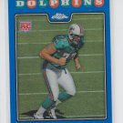 Jake Long Rookie Card Blue Refractors 2008 Topps Chrome #TC222 Dolphins Rams
