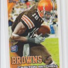 Carlton Mitchell Rookie Card 2010 Topps #192 Browns