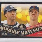 Derek Jeter & Jonathan Papelbon Marquee Matchups 2008 UD SP Authentic #MM33