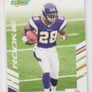Adrian Peterson Rookie Card 2007 Score #341 Vikings