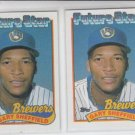 Gary Sheffield Rookie Card Future Stars FS Lot of (2) 1989 Topps #343 Brewers