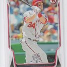 Bryce Harper Baseball Trading Card 2014 Bowman #200 Nationals