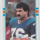 Fred Smearlas Football Trading card 1989 Topps #50 Bills
