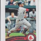 Dustin Pedroia Baseball Card 2011 Topps Series 2 #480 Red Sox