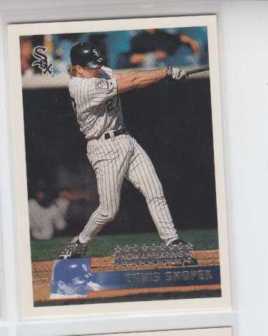 Chris Snopek Coming Atrractions 1996 Topps #345 White Sox *ABC