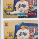 Jeromy Burnitz Baseball Card Lot of (2) 1994 Stadium Club #201 Mets