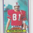 Russ Francis Football Trading Card 1980 Topps #80 Patriots NM *BOB