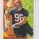 Carlos Dunlap Rookie Card 2010 Topps #9 Bengals