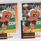 Eric Lindros Signature Moves Lot of (2) 1997 Score #265 Flyers *BOB